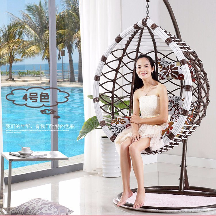 Factory Production Outdoor Swing, Rattan Furniture, Rattan Basket (D017)