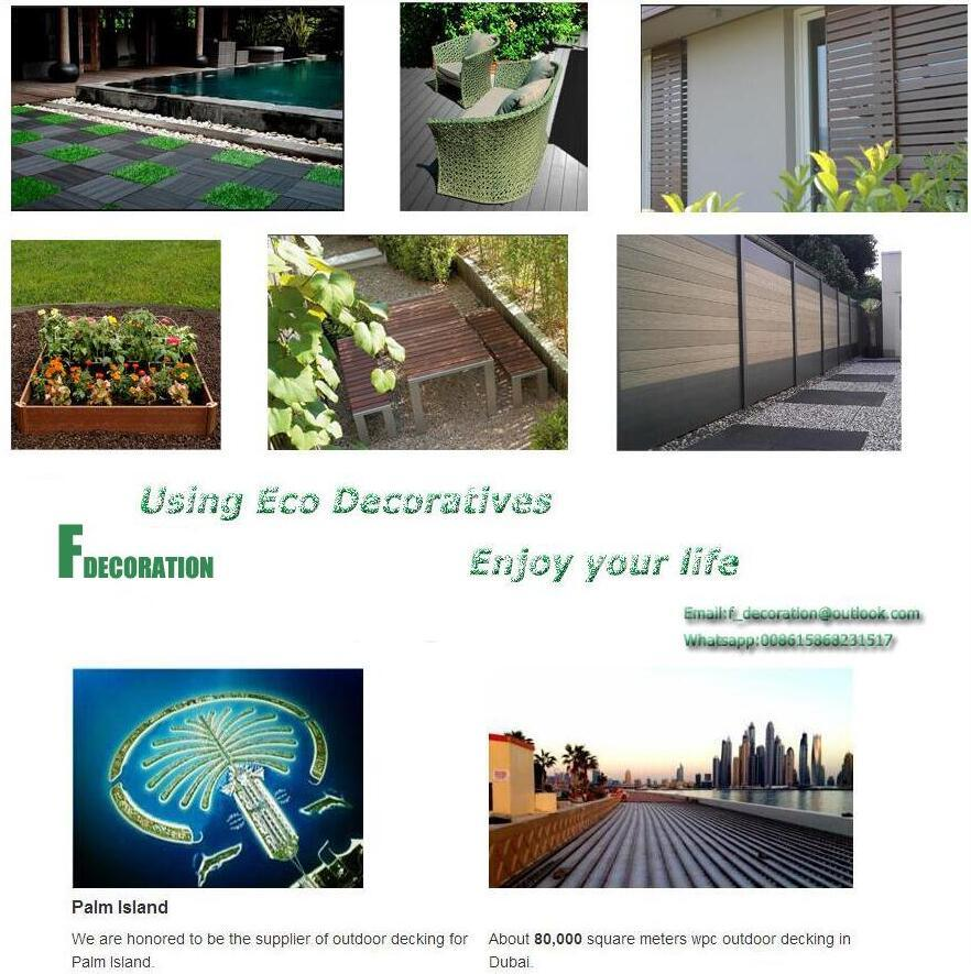 Anti UV Outdoor Composite Decking Plastic Wood WPC Wall Panel