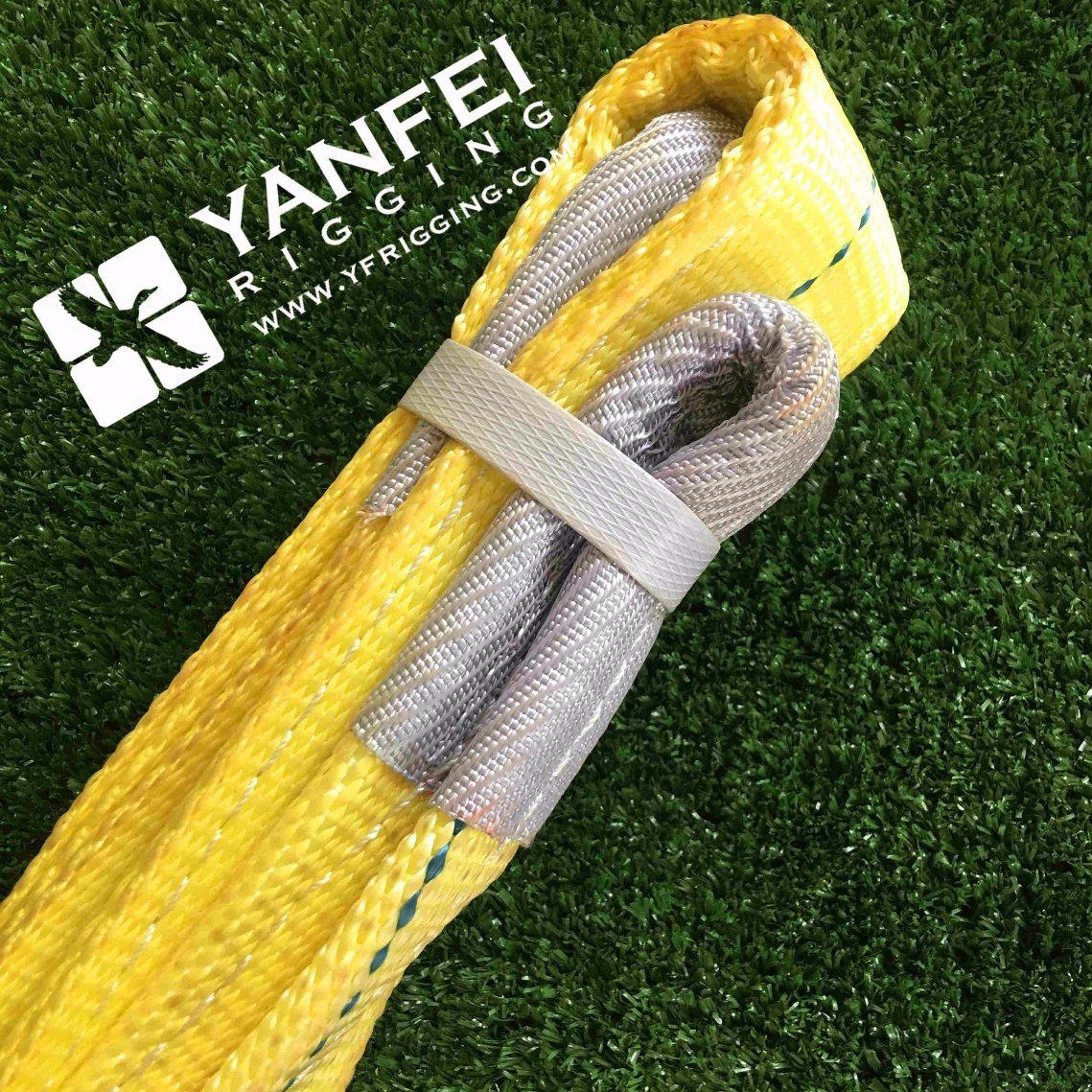 ASME B30.9 3ton Yellow 5: 1 Polyester Webbing Sling
