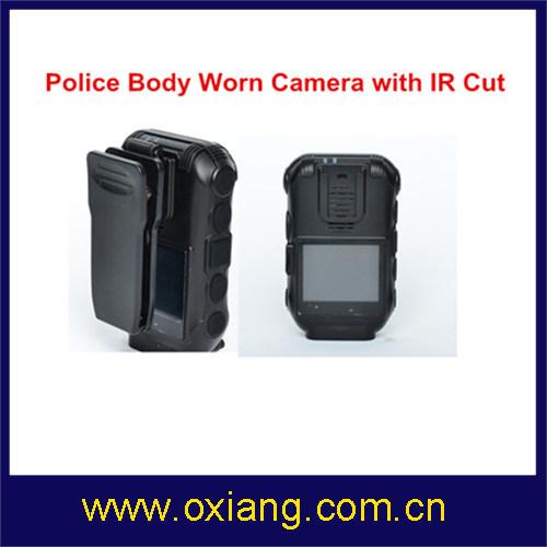 5m 2′′ Police Body Worn Camera Police DVR with 3600 mAh Battery