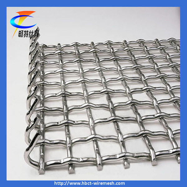 China Stainless Steel Square Crimped Weave Wire Mesh