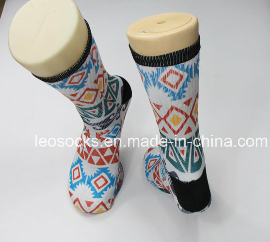 3D Printed Socks 360 Wholesale Digital Print Men Soccer Socks Sublimation Basketball Socks