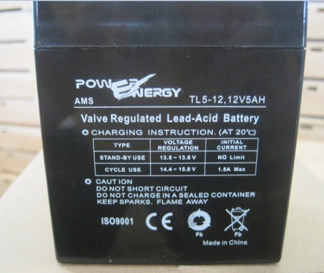 12V 5ah PE5 VRLA Sealed Lead Acid Maintenance Free UPS Battery