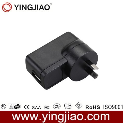 12W AC DC Universal Travel USB Power Adapter with Ce UL