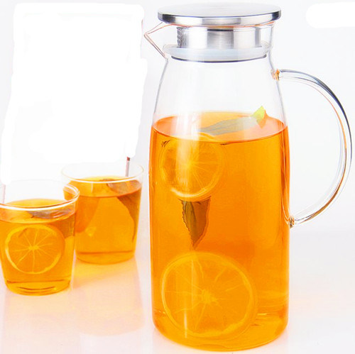 Big Capacity Glass Teapot Juice Jug Juice Kettle