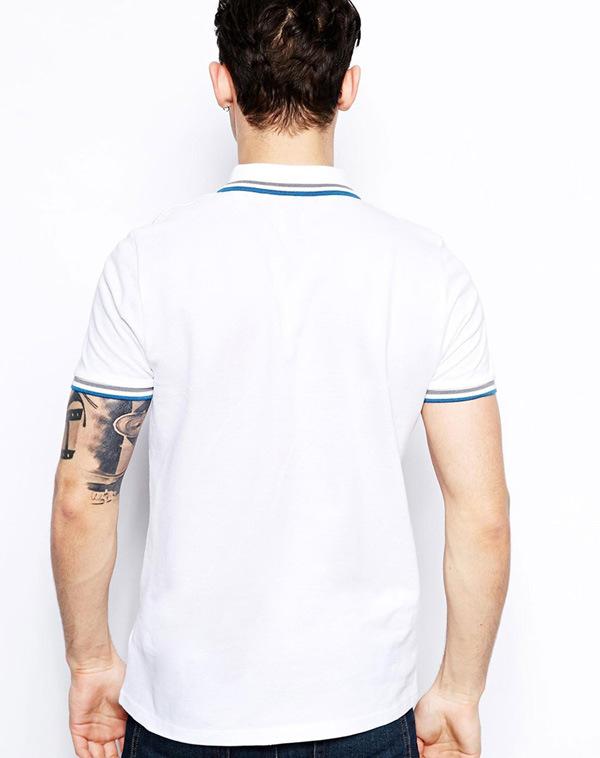 Wholesale Men′s Cotton White Polo Shirt
