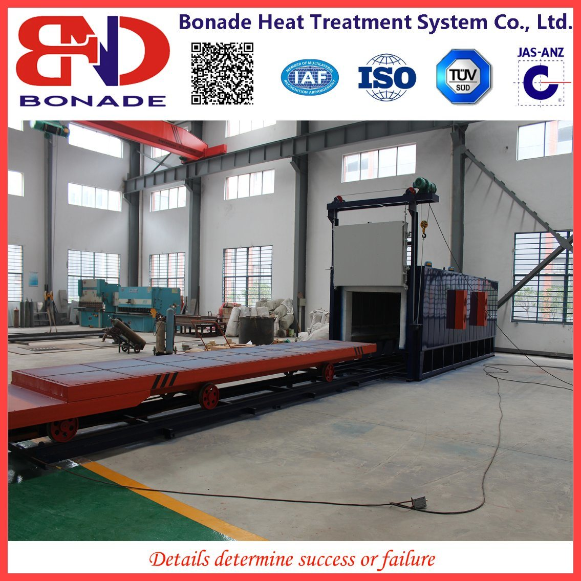 900kw Air Circulation Bogie Hearth Furnaces for Heat Treatment