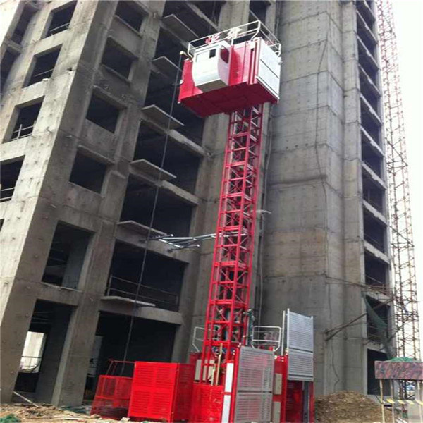 Ce Passed 2t Double Cage Hoist Lift Construction Elevator