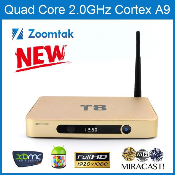 Private Model Quad Core Android Box Set Top Box T8