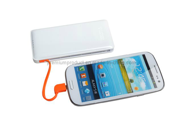 Newest 2in1 Integrated Portable Battery Mobile Cell Phone Charger