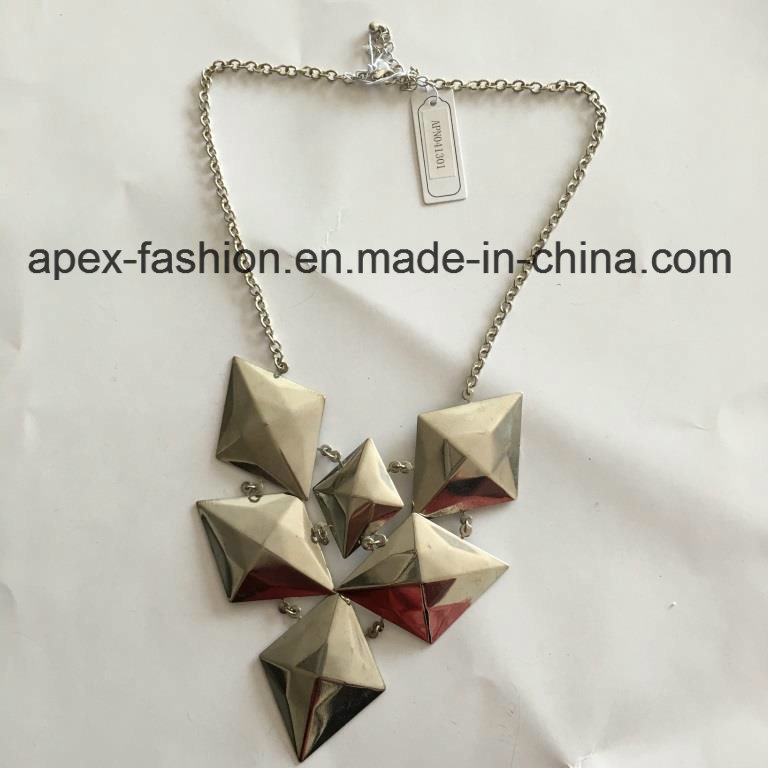 Short Geometric Silver Plated Necklace Fashion Jewelry