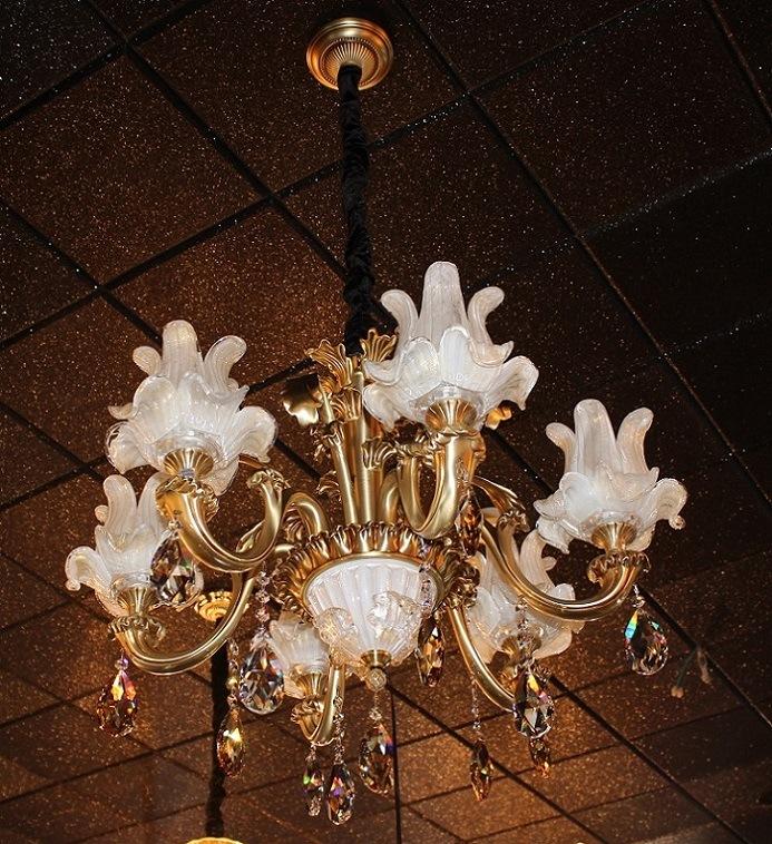 Phine 6 Arms Modern Swarovski Crystal Decoration Pendant Lighting Fixture Lamp Chandelier Light