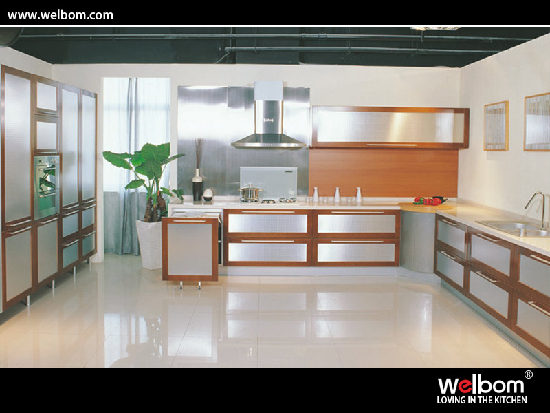 Kitchen Cabinets 2015 china 2015 2015 classical aluminium door solid wood kitchen