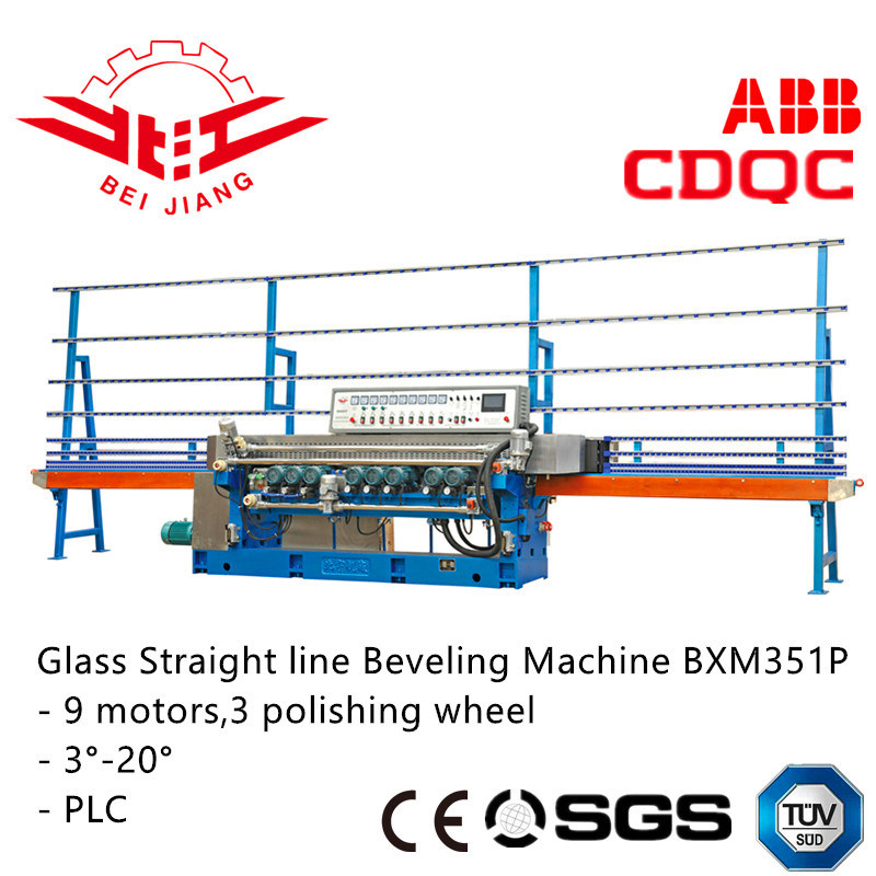 Glass Bevel Polishing Machine Mirror & Mosaic Grinding (Bxm351p)