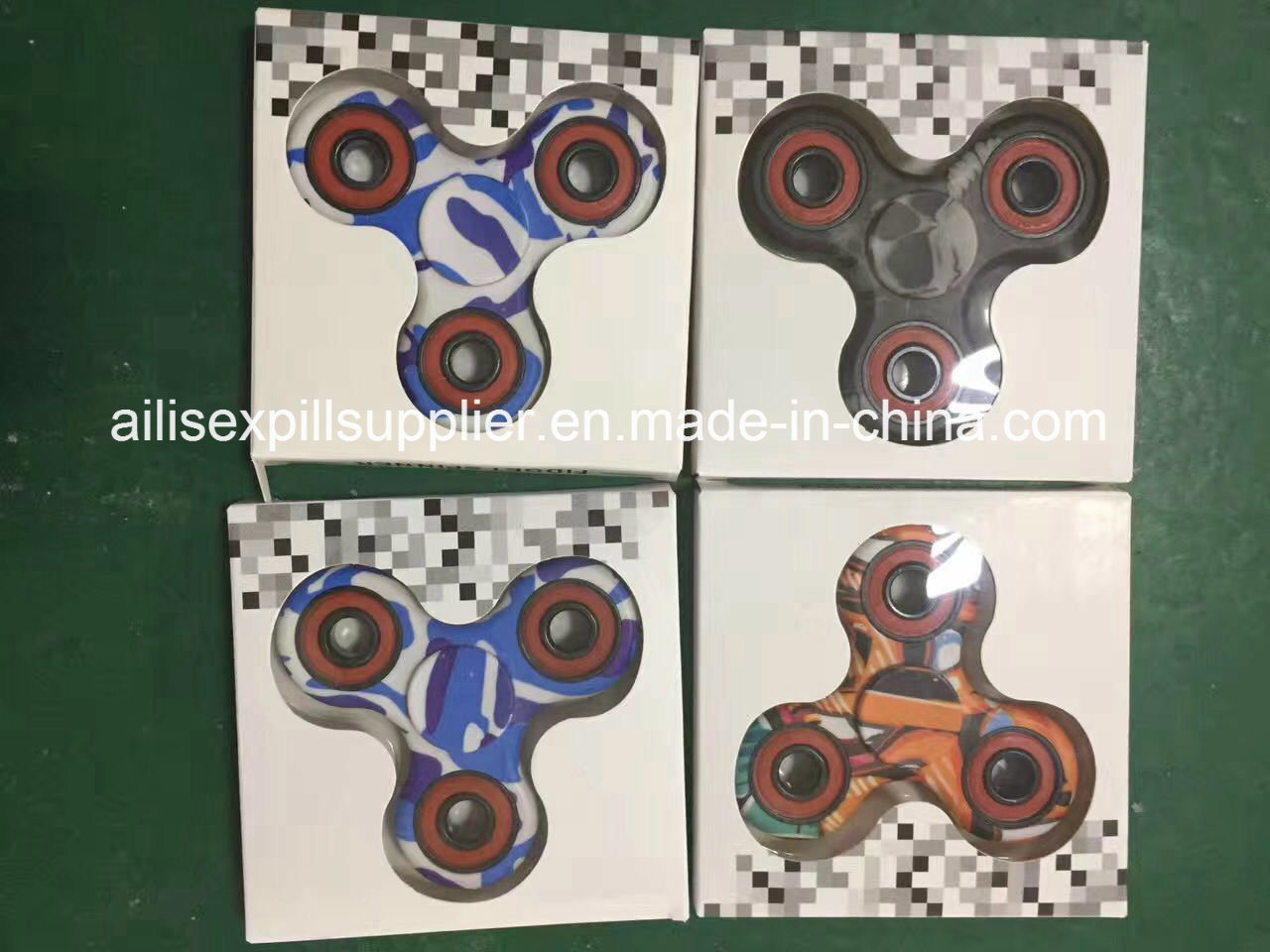 Camouflage Hot ABS Plastic or PVC Toy Fidget Hand Spinner/ Fidget Spinner