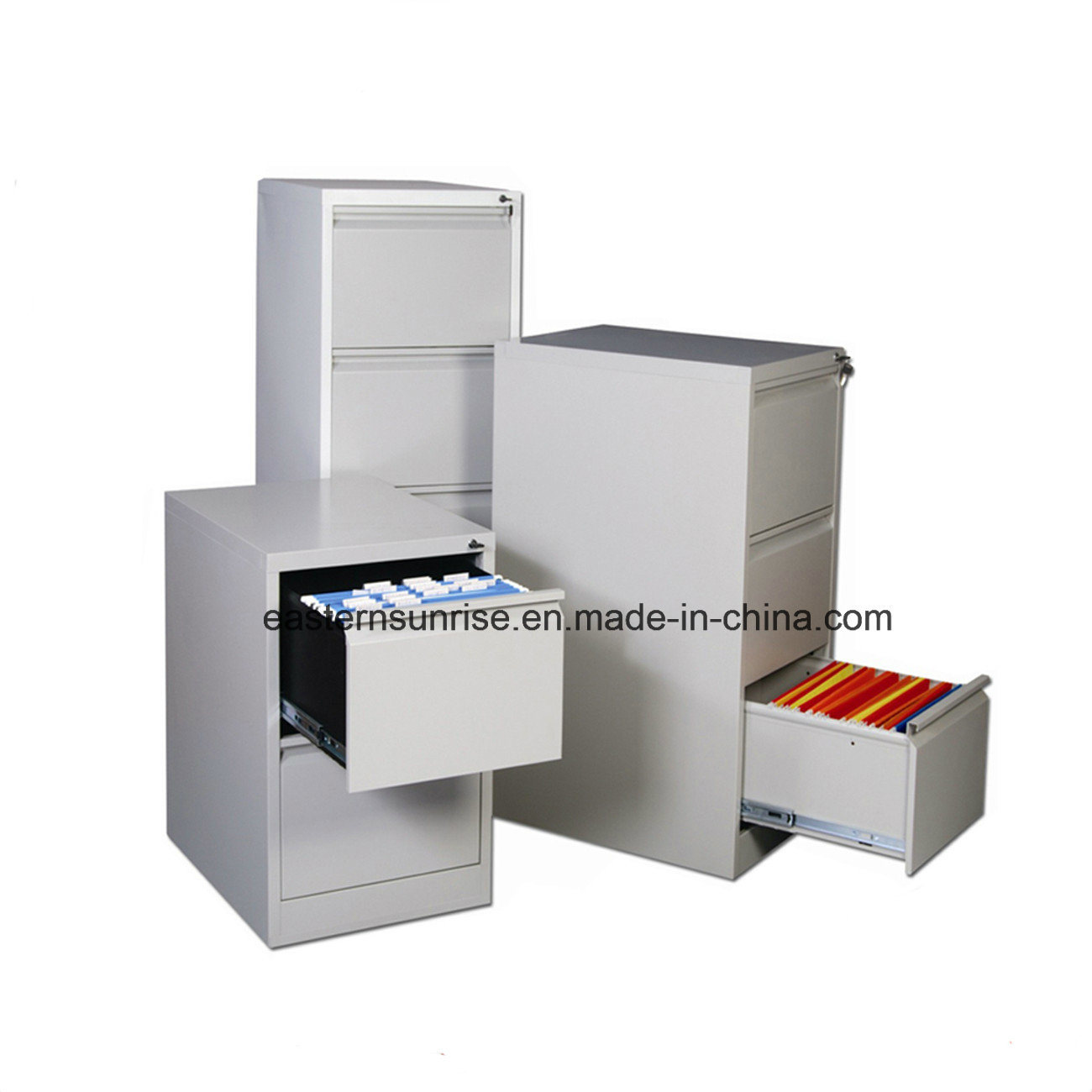 Wholesale Iron Steel Office Furniture Three Drawers