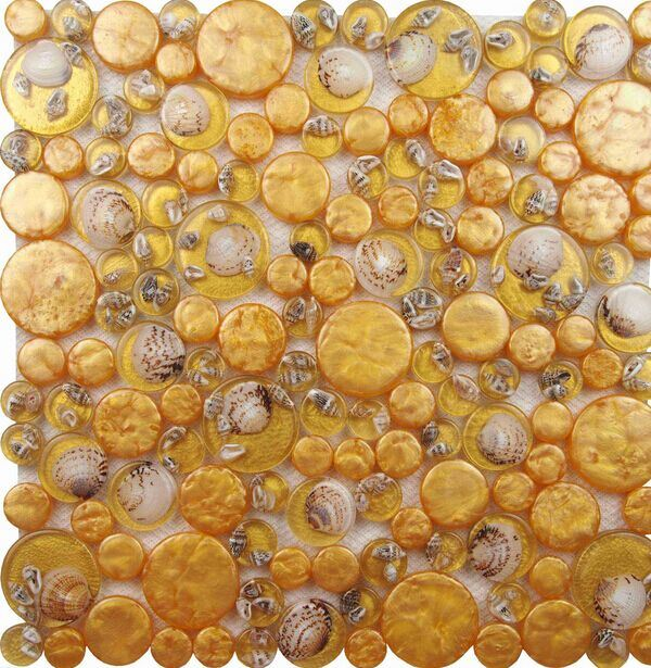 Resin Mix Shell Mosaic Bathroom Wall Tile Stickers