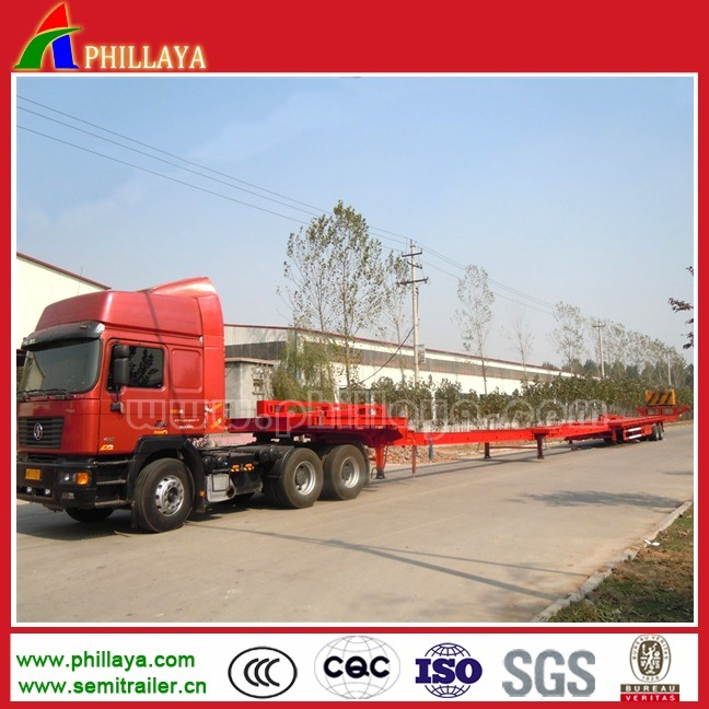 Air Suspension Four Axles Extendable Lowbed Trailer
