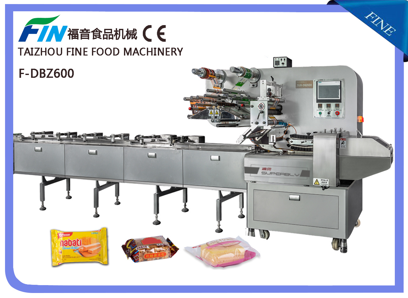 F-Dbz600 Automatic High Speed Multi-Functional Pillow Packing Machine