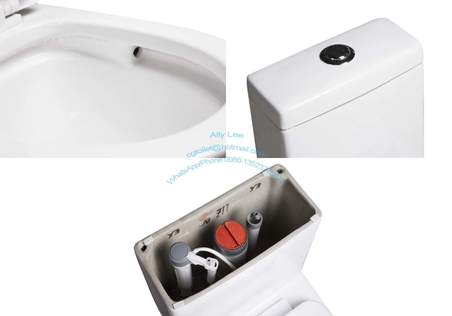 Professional Factory Super Siphon Watermark Ce Saso One-Piece Toliet