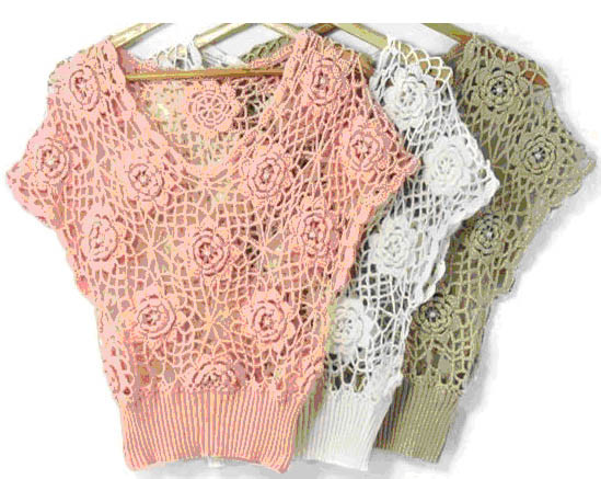 China Crochet Sweater - China Crochet Sweater, Knitwear