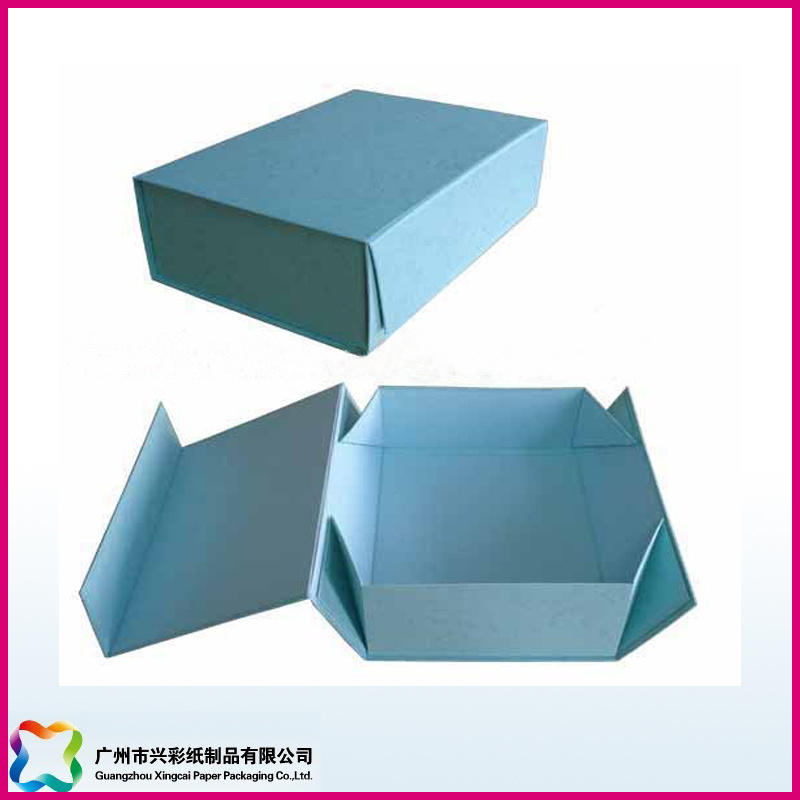 Custom Print Flat Packed Cardboard Foldable/Folding Box (XC-1-027)