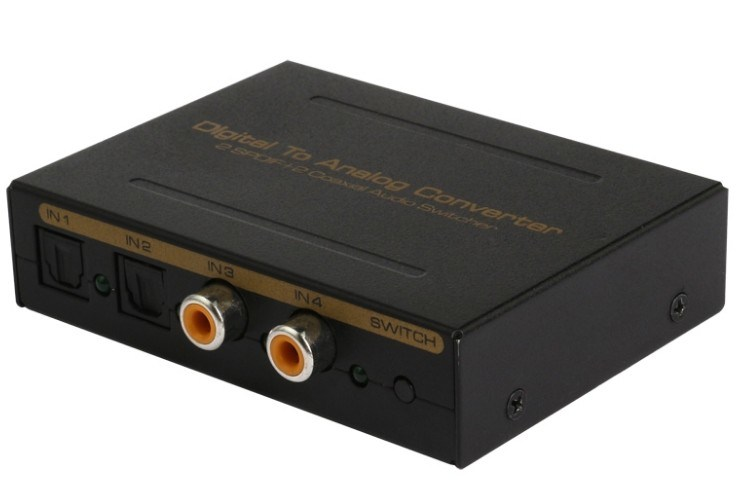 Digital to Analog Converter (2 SPDIF+2 Coaxial Audio)