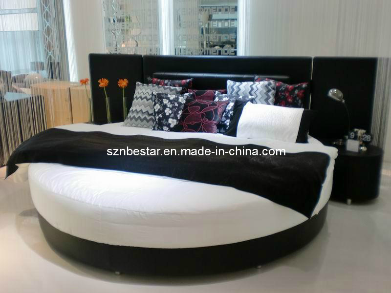 Luxury king size bedroom furniture sets - China Modern Soft Round Bed Soft Bed Simple Design