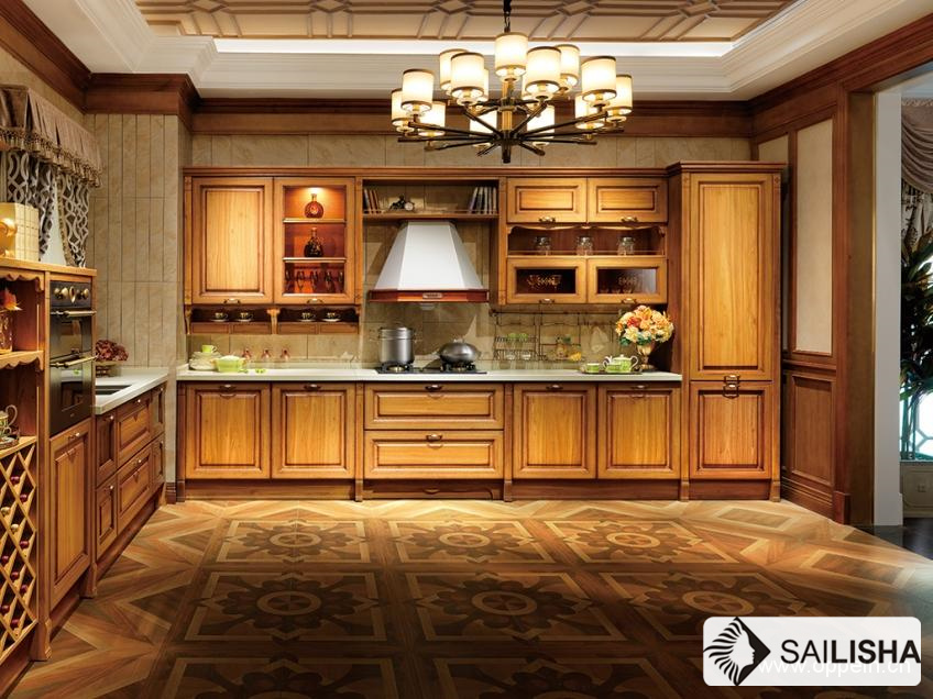 Modern Caribbean Home Hotel Furniture Island Wood Kitchen Cabinet