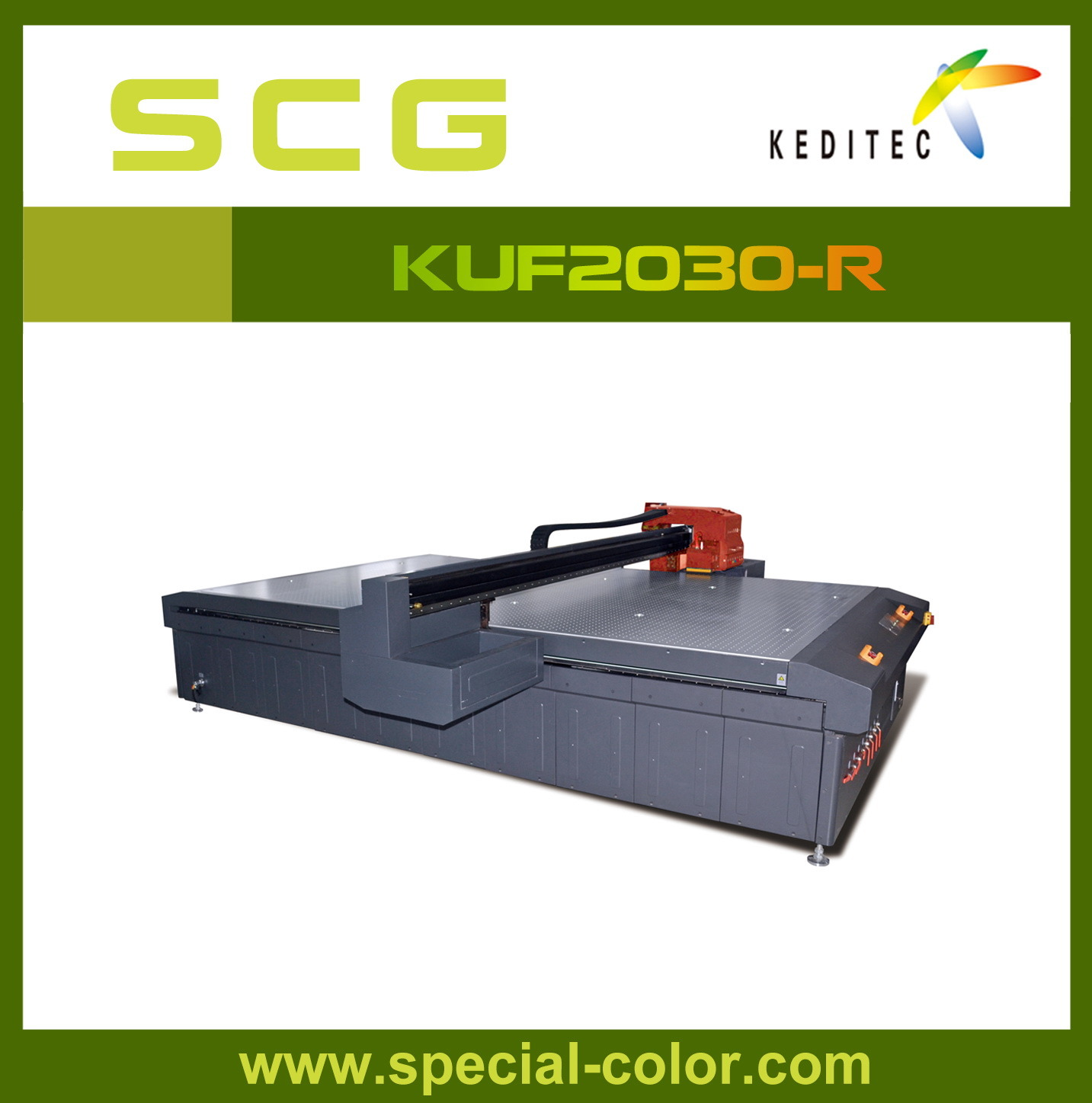 Alpha Multi-Color Flatbed UV Panel Printer for Fabric Kuf2030-S