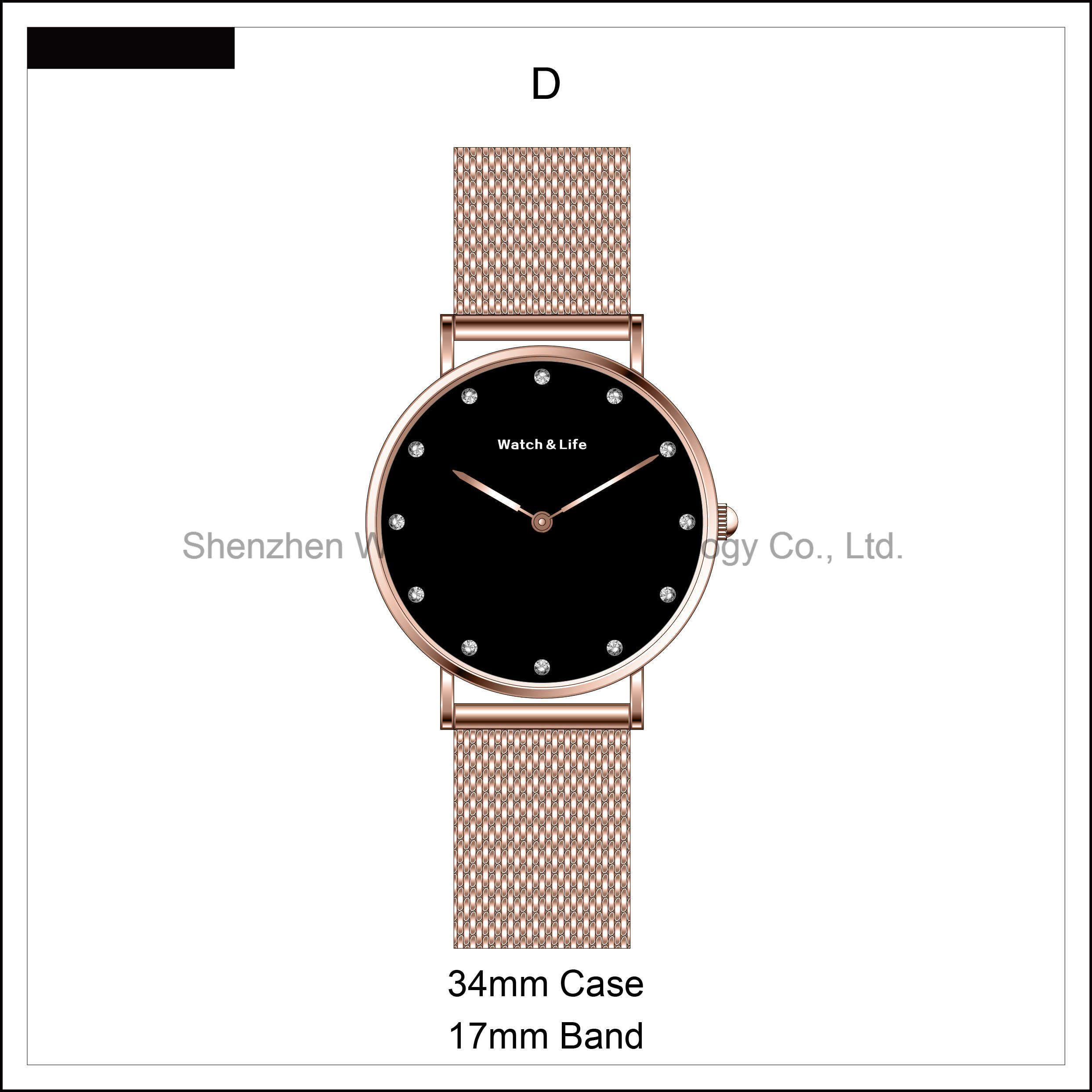 Fashion Stainless Steel Case Brand Couple Lover Nylon Mesh Strap Watches Nato Wrist Watch