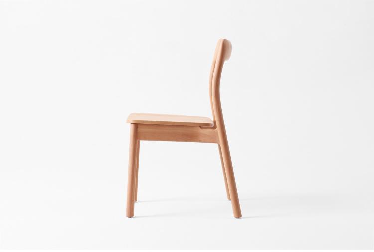 Popular Modern Beech Chair Wooden Dining Room Table Set