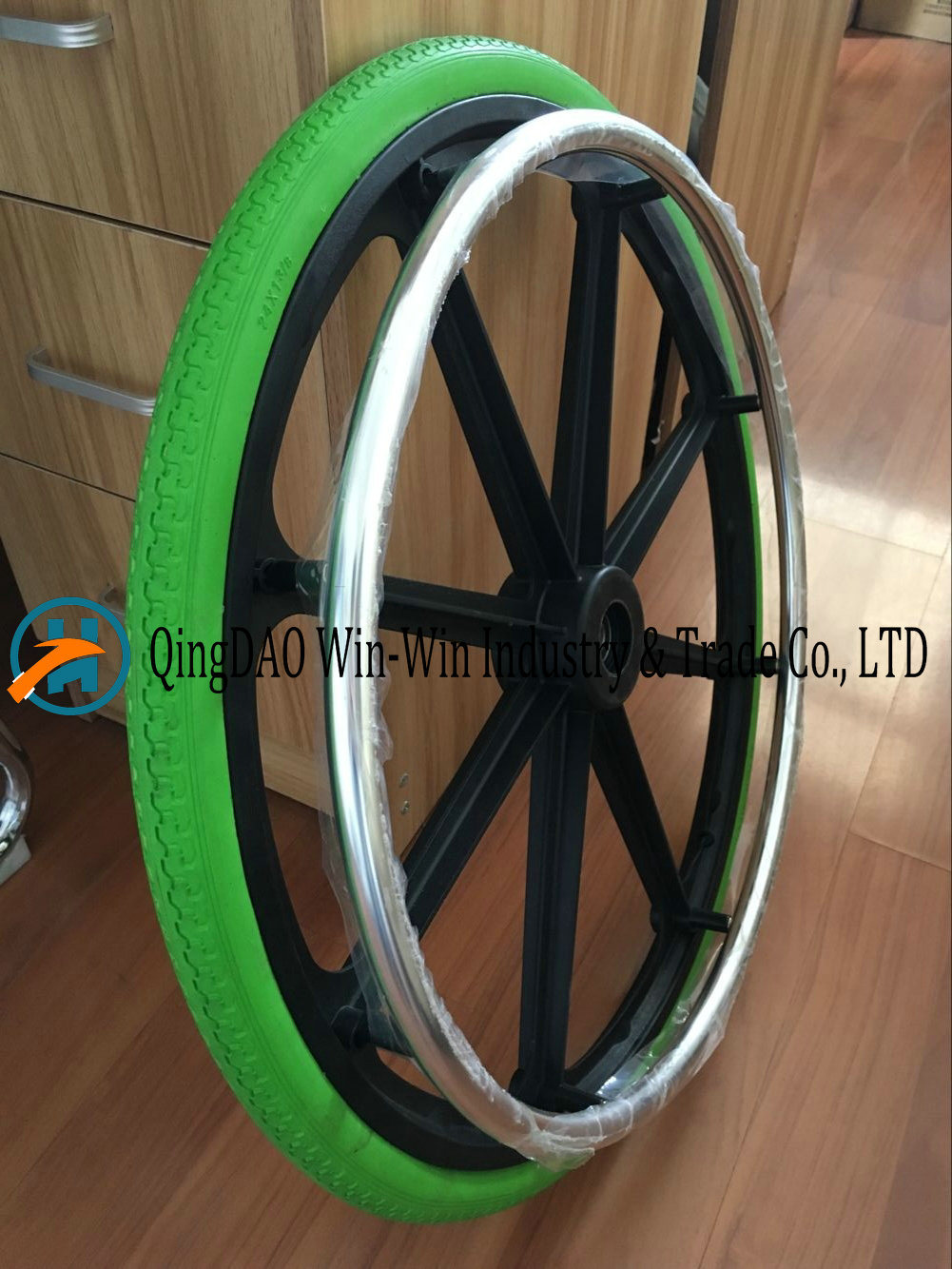 24X1 3/8 Solid Polyurethane Foam Wheelchair Wheel