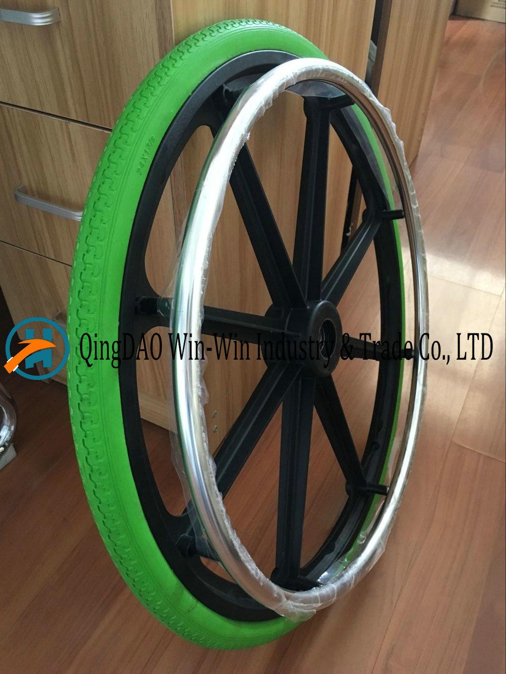 Solid Polyurethane Foam Wheel for Wheelchair Wheel (24X1 3/8)