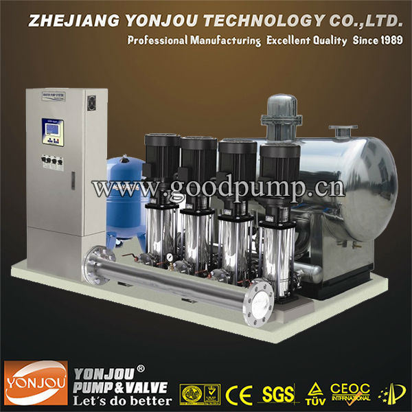 Yonjou PLC Control Non-Negative Pressure Water Supply Equipment System