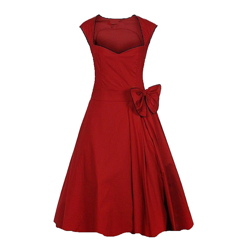 Hot Sell Celeb Walson Rockabilly Evening Party Robe Boutique Dresses for Lady