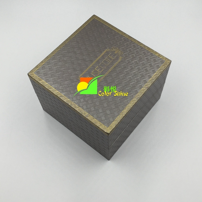 Hot Stamping Grey Art Jewellery Paper Packing Gift Box