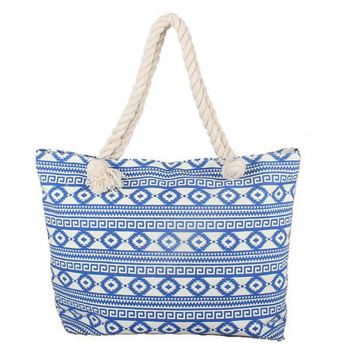 Retro Style Women Canvas Beach Storage Bags for Outdoor/Shopping