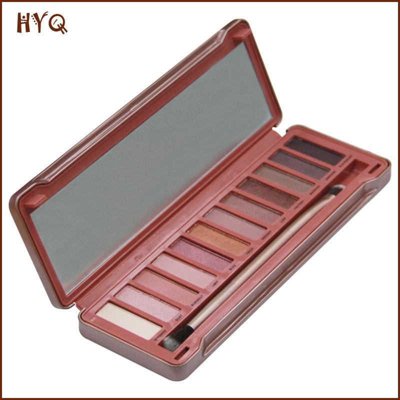 Hot Selling Makeup Eye Shadow 12 Colors Eyeshadow with Brusher