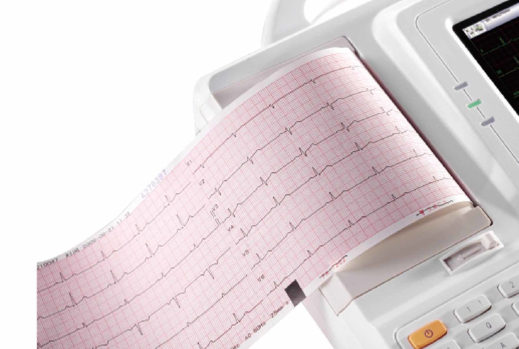 Six Leads Channel ECG Machine EKG Electrocardiograph Holter Big Screen ECG