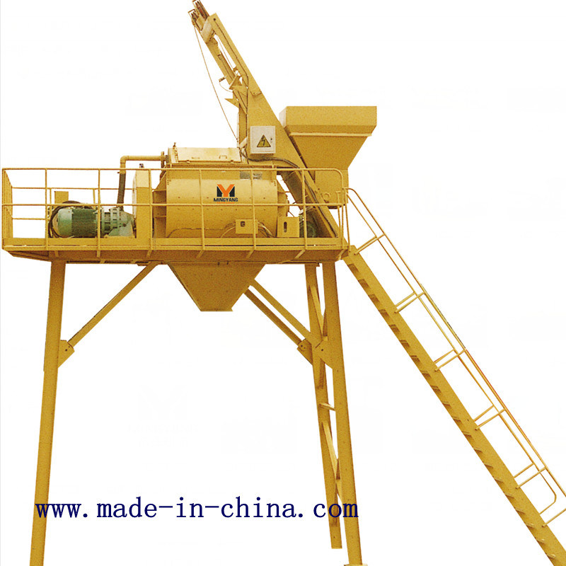 Js1000 Double-Horizontal-Shaft Forced Type Concrete Mixer