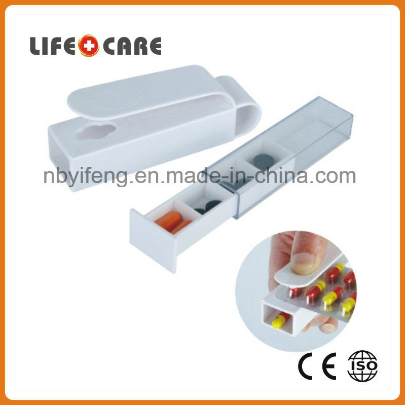 Medical Plastic Pill Popper Dispenser/Pill Cutter for Promotion