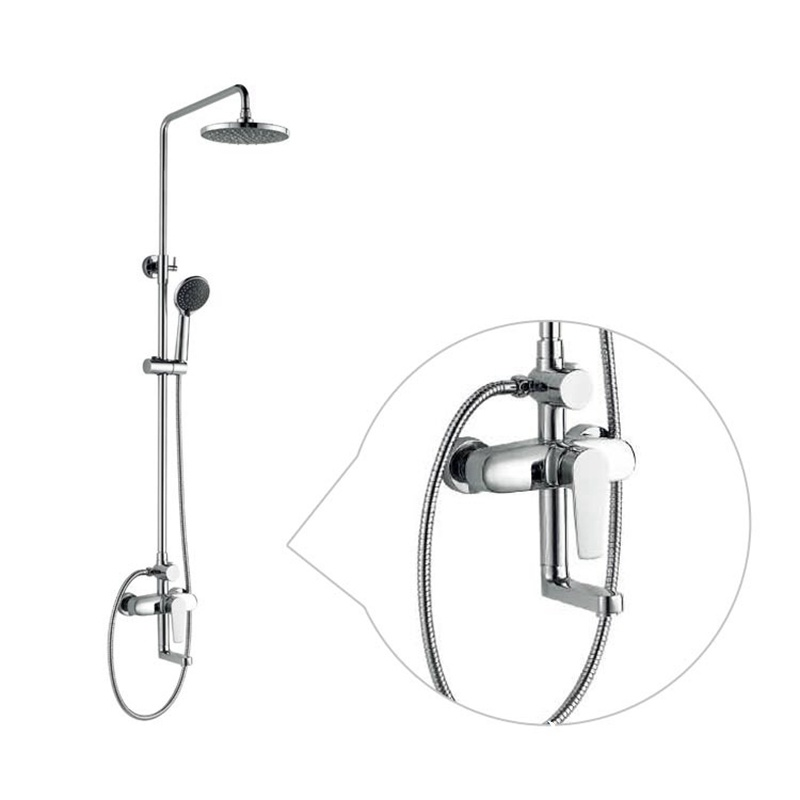 2017 New Design Chinese Blue-and-White Ceramic Single Handle GS-057 Brass Rain Shower Set