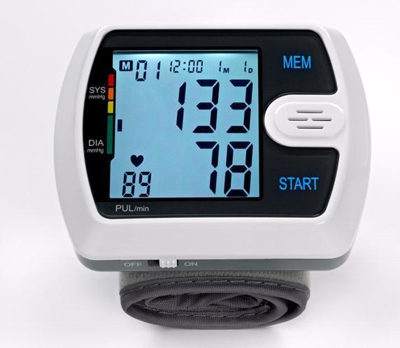 Wrist Digital Blood Pressure Monito Sphygmomanometer (Hz-7961)