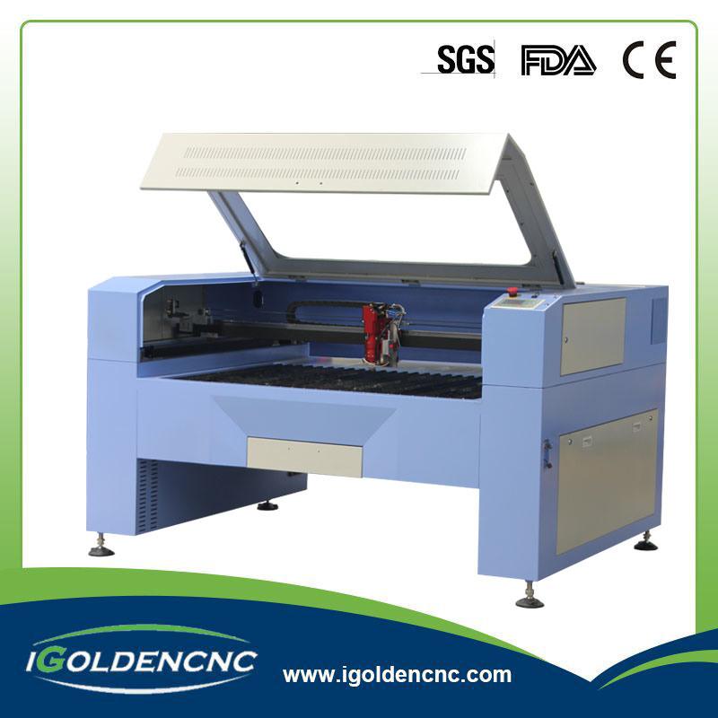 80W 100W Fabric / Acrylic / Plastic / Wood CO2 Fabric Laser Cutting Machine for Hot Sale