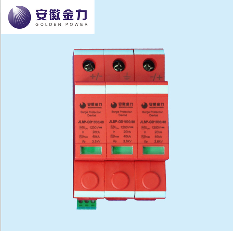 PV Application 20-40ka Solar 3p DC 1000V, Jlsp-Gd1000-40, SPD, Surge Protector, 17009