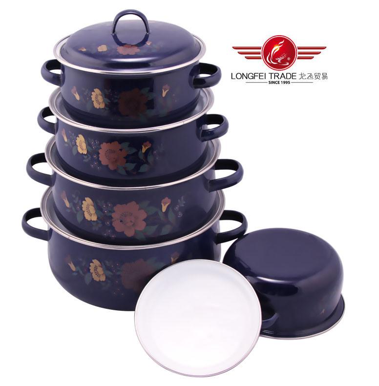 5PCS Hot Sale Enamel Steel Cookware
