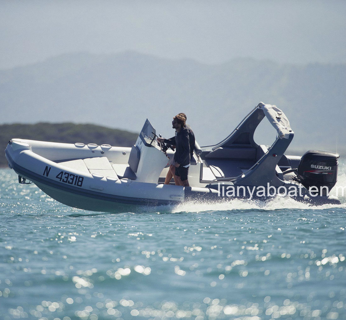 Liya 22FT Military Fiberglass Hull Inflatable Boat Made in China