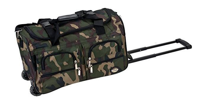 Camouflage Sports Travel Tote Duffle Wheeled Trolley Bag