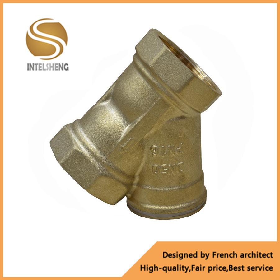 Y Type Bsp Thread Brass Strainer